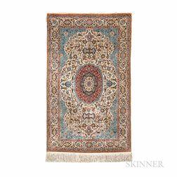 Isfahan-style Silk Rug