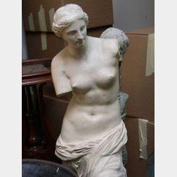 Painted Plaster Cast of the Venus de Milo.