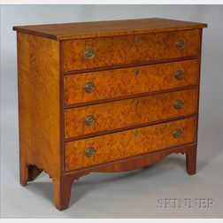 Federal Bird's-eye Maple and Cherry Veneer Chest of Drawers
