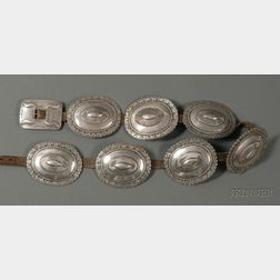 Southwest Silver Second Phase Concha Belt