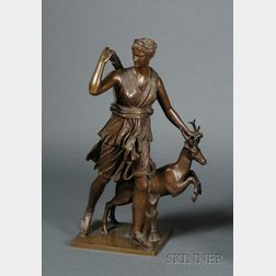 Large Barbedienne Foundry Figure of Diana the Huntress