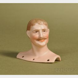 Bisque Gentleman Portrait Head