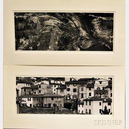 Michael A. Smith (American, b. 1942)      Two Photographs: Near Aspen, Colorado   and Loro Ciuffenna, Tuscany