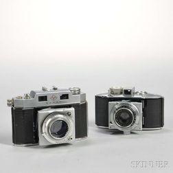 Two Agfa Karat Cameras