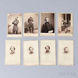 Eight Civil War Carte-de-visites