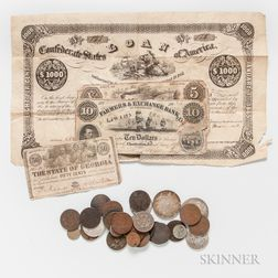 Group of American Coins and Currency