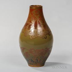Sarreguemines Art Nouveau Vase