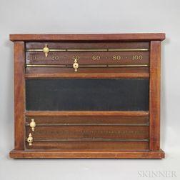 Brunswick-Balke-Collender Co. Mahogany Score Counter