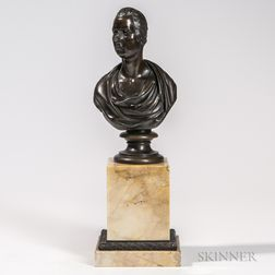 Bronze Classical-style Bust of a Man