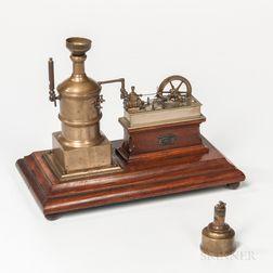 Miniature Brass Steam Engine Model