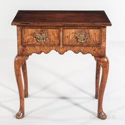 Georgian-style Mahogany- and Walnut-veneered Dressing Table