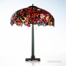 Bigelow & Kennard Rose Blossom Table Lamp