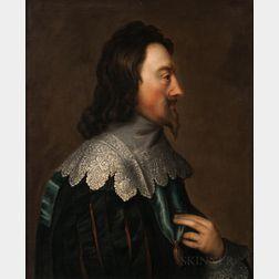 After Anthony Van Dyke (Flemish, 1599-1641)      Profile Portrait of Charles I