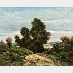 Henri-Joseph Harpignies (French, 1819-1916)      Cart Path, Loire Valley