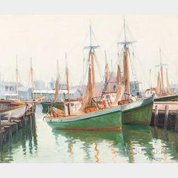 Abraham Rosenthal (American, 1886-1963)      Harbor, Cape Ann
