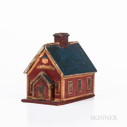 Painted Schoolhouse Box