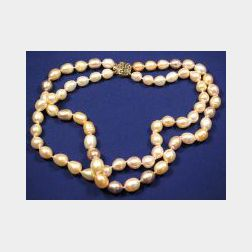 14kt Gold and Freshwater Pearl Necklace
