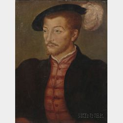 Manner of Jean Clouet (French, 1486-1540)      Portrait of a Gentleman.