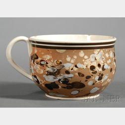 Mochaware Slip Decorated Porringer