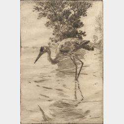 Frank Weston Benson (American, 1862-1951)      Lot of Two Prints:  Blue Heron