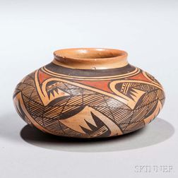 Small Hopi Polychrome Pottery Bowl by Rachel Nampeyo