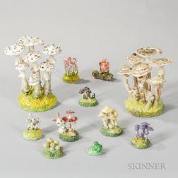 Eleven Maria Maravigna (1899-2006) Mushroom Sculptures