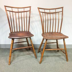 Pair of Bamboo-turned Windsor Side Chairs