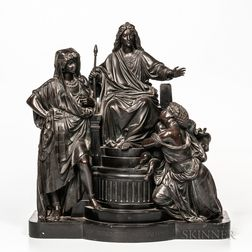 Bronze Depiction of the Judgement of Solomon