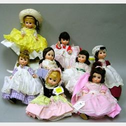 Eight Alexander-kins Dolls
