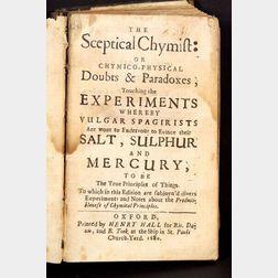 (Chemistry, Early), Boyle, Robert (1627-1691)
