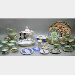Large Group of Assorted Pottery, Porcelain, and Glass Tableware and Items