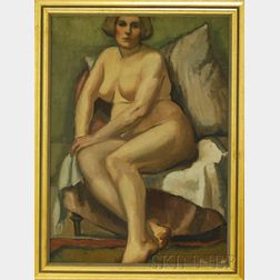 School of Andre Lhote (French, 1885-1962)      Portrait of a Seated Nude