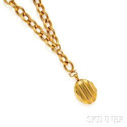 Victorian 18kt Gold Locket and Chain