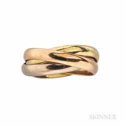18kt Tricolor Gold Rolling Ring