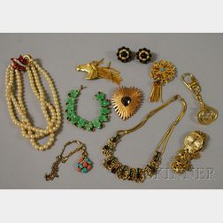 Small Group of Signed Costume Jewelry