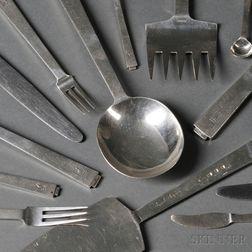 Edward VII/George VI Art Deco Sterling Silver Flatware Service