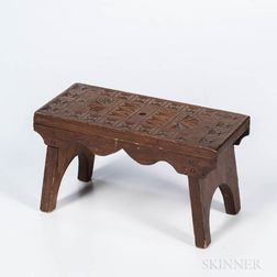 Miniature Chip-carved Stool