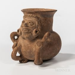 Monte Alban Figural Pottery Vessel