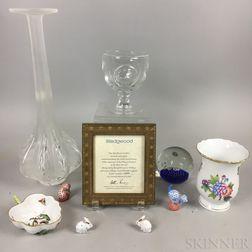 Ten Ceramic and Glass Decorative Items