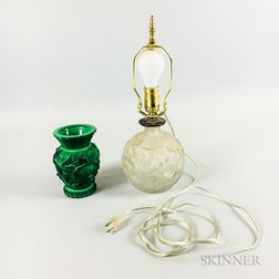 Two Art Glass Items