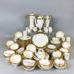 Large Group of Lenox and Belleek Gold Band Porcelain Teaware.     Estimate $20-200