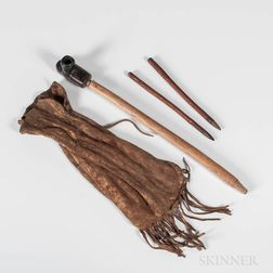 Plains Hide Pipe Bag, with Pipe and Two Tampers