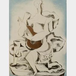 Ossip Zadkine (Russian/French, 1890-1967)  Guitar Player