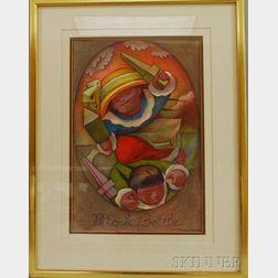 Jean Charlot (American/French, 1898-1979)      Mock Battle