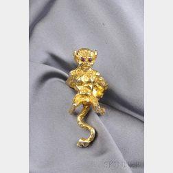 14kt Gold Devil Ring, Eric de Kolb