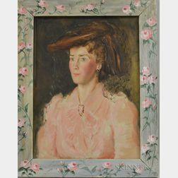 Josephine Paddock (American, 1885-1964)    Two New York Ladies' Portraits: Mrs. Fred Wiemann (English Girl)