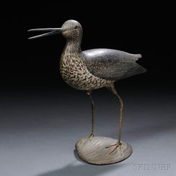 Calling Greater Yellowlegs Mantel Figure