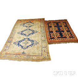 Antique Soumak and an Afghan Rug