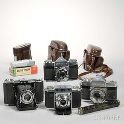 Four Zeiss Ikon Cameras