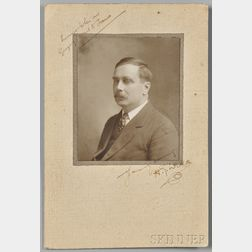 Wells, Herbert George (1866-1946) Signed Photograph.